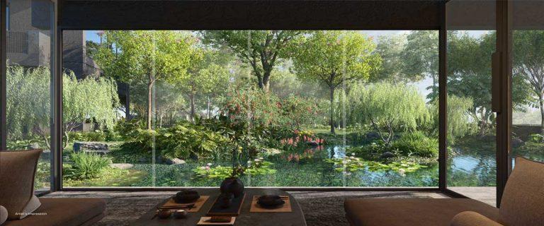 midtown-modern-condo-indoor-entertainment-area-garden-view